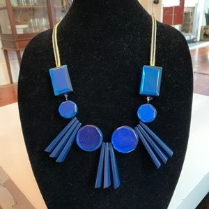 Marni Blue Acrylic Statement Necklace